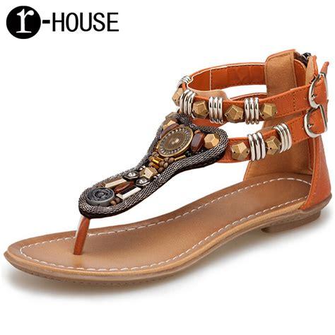 comfortable gladiator sandals sandalias mujer summer 2016 vintage rome women flip flops