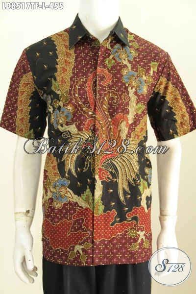 Busana Pria Pakaian Baju Kemeja Pendek Motif Batik Murah jual baju batik pria pakaian batik kemeja lengan pendek motif mewah tulis asli bahan