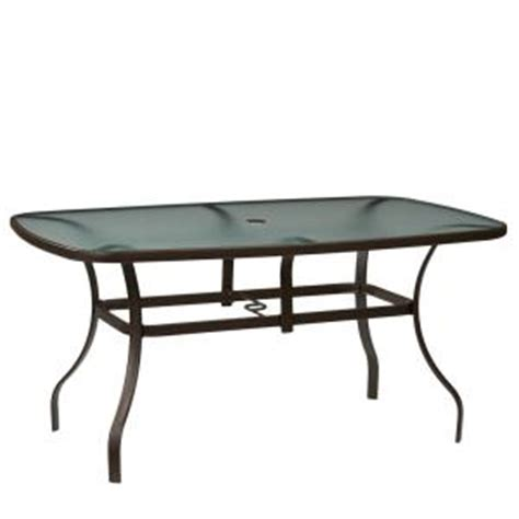 Home Depot Outdoor Dining Table Hton Bay Mix And Match Rectangle Metal Outdoor Dining Table Fts00502jp The Home Depot