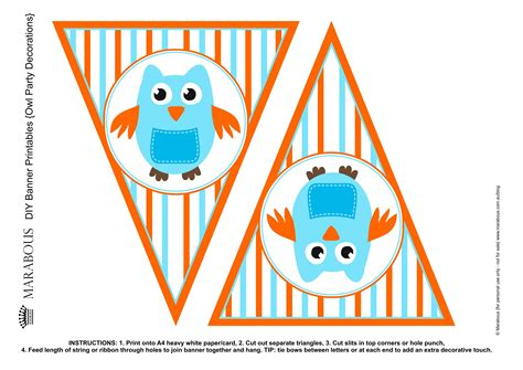 printable owl birthday banner giggle hoot inspired printable bunting flag by marabous