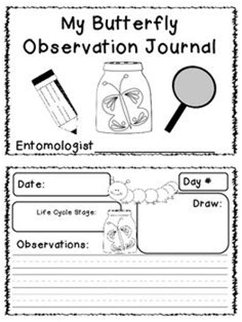 printable caterpillar observation journal 1000 images about butterfly observation on pinterest