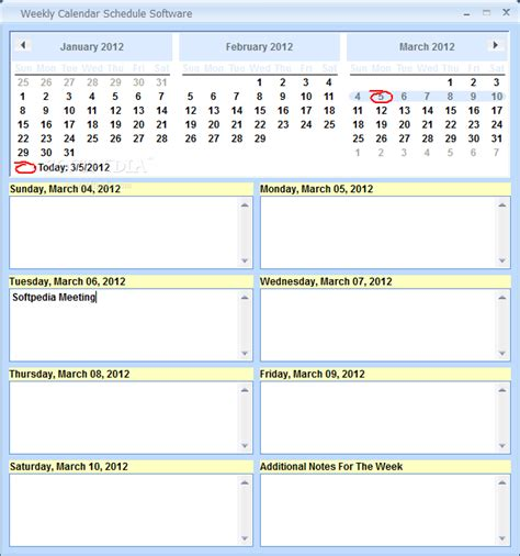 printable calendar program weekly calendar schedule printable weekly calendar