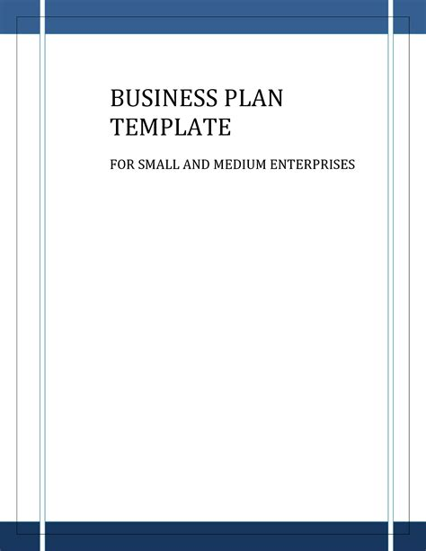 business template business plan templates free free business template