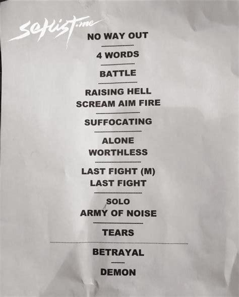 setlist de bullet for 10 septiembre 2015