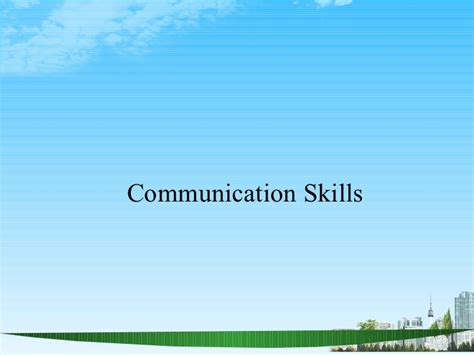 Mba Presentation Tips by Communication Skills Ppt Bec Doms Mba