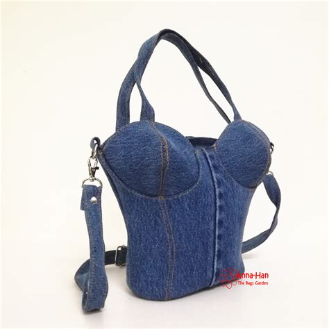 Denim Bag jb17 casadia handcrafted denim bag the bags garden