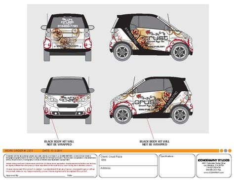 smart car wrap template custom smart car wrap design by iconography vehicle wrap