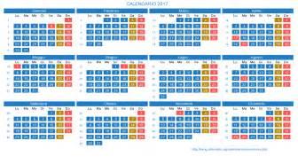 Calendario 2018 Con Festività Calendario 2017 Con Giorni Festivi