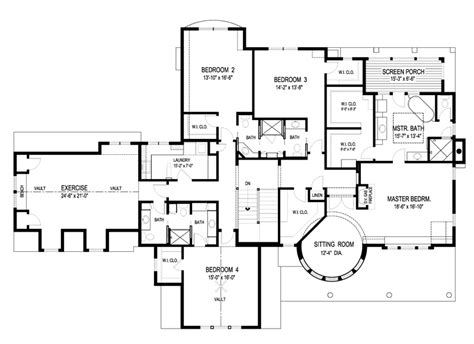 large home floor plans craftsman plan 5 342 square feet 4 bedrooms 4 5