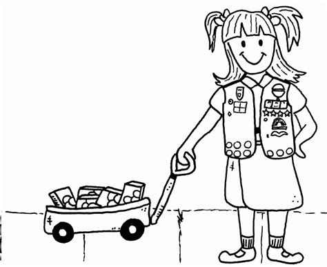 coloring page girl scout cookies girl scout color pages coloring home