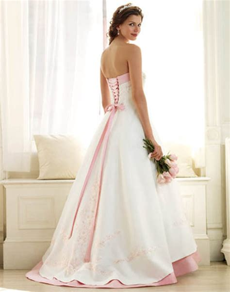 Pink White Wedding Dresses by 301 Moved Permanently