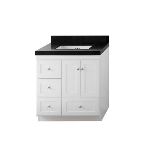 Ronbow Vanity Top by Ronbow Shaker 30 In W Vanity In White With Quartz Vanity