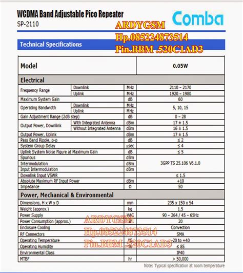 Comba Sp 2110 Band Selective Indoor Mini Repeater Pico Repeater Rep pico repeater comba sp2110 comba sp 2110