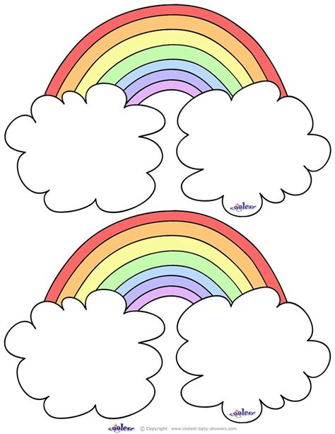 printable rainbow thank you cards blank printable rainbow thank you cards coolest free