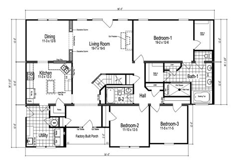 Palm Harbor Home Floor Plans the richland manufactured home floor plan or modular floor