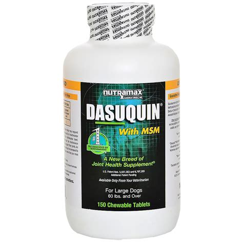 dasuquin with msm for large dogs dasuquin for large dogs 60 lbs with msm 150 chewable tabs