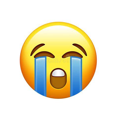 imagenes de un emoji triste cara triste amarilla de emoji con el icono gritador del