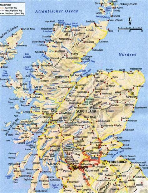 Motorradtouren Kostenlos Planen by Schottland Karte Highlands Hanzeontwerpfabriek