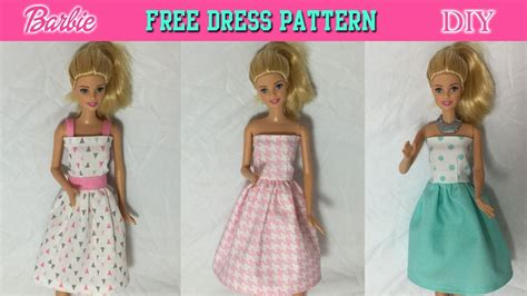 How To Make A Doll Dress Out Of Paper - diy tutorial how to make doll dress free pattern