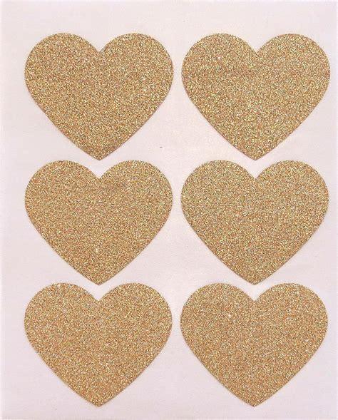 Aufkleber Gold Herz by 24 Rose Gold Glitzer Herz Aufkleber Www Cartissimi