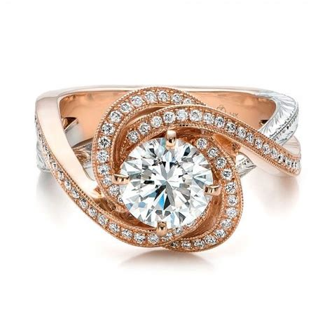 custom gold and platinum engagement ring
