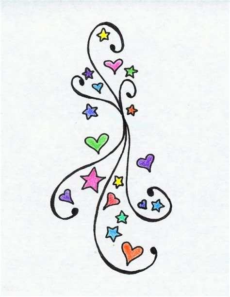 heart and star tattoo designs simson