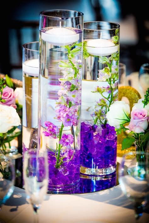 Glamorous Lilac And Lavender Wedding Belle The Magazine Lavender Centerpieces For Weddings