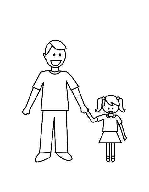 daddy and her daughter i love dad coloring pages