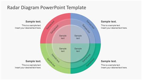 spider diagram template powerpoint simple risk radar powerpoint diagrams