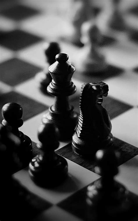 black  white chess board pieces iphone   hd