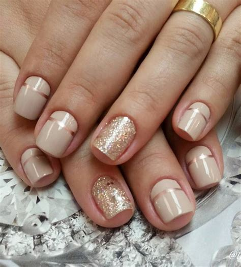 easy nail art with two colours 40 nude color nail art ideas gold and color nails