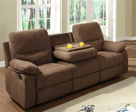 sectional recliner sofa with cup holders in chocolate microfiber 20 choices of sectional with cup holders sofa ideas