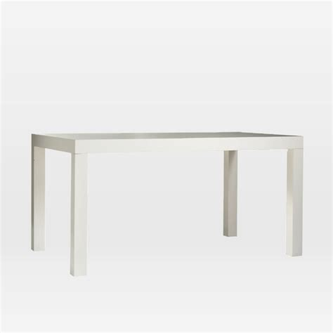 substantial white parsons dining table at 1stdibs parsons