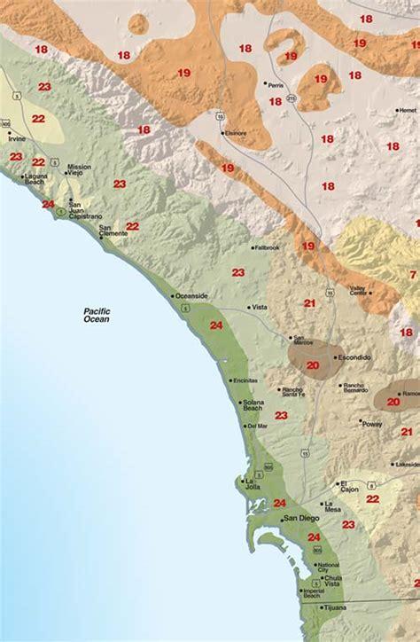 garden zone map california sunset climate zones san diego region sunset