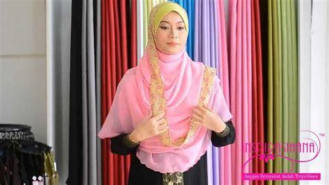 youtube tutorial shawl chiffon butik inspirasihana tutorial shawl chiffon halfmoon