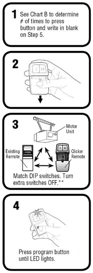 Garage Door Opener Clicker Manual How To Program The Chamberlain Garage Door Remote Klik1u Removeandreplace