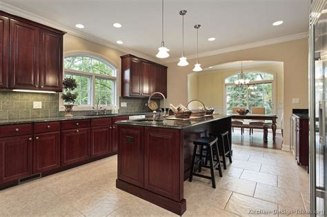 cherry kitchen ideas pictures kitchens traditional wood cherry color