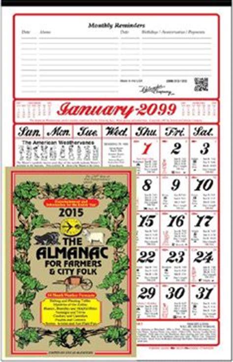 2015 or 2016 american almanac calendar farmer s almanac