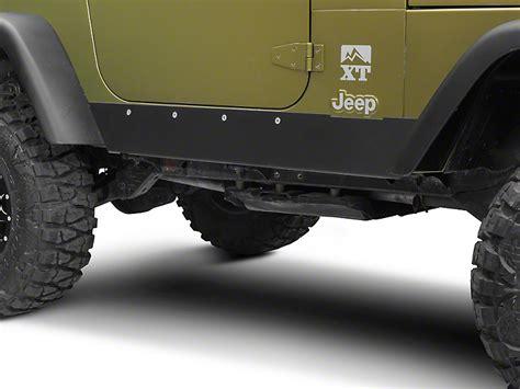 jeep wrangler rock guards barricade wrangler rocker guard j100293 97 06 wrangler tj