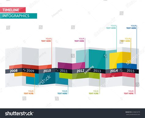 workflow calendar template timeline infographic vector cv resume business stock