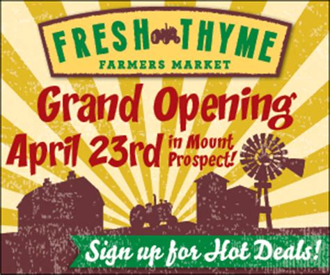 Fresh Thyme Market Gift Card - fresh thyme farmer s market grand opening 50 gift card giveaway