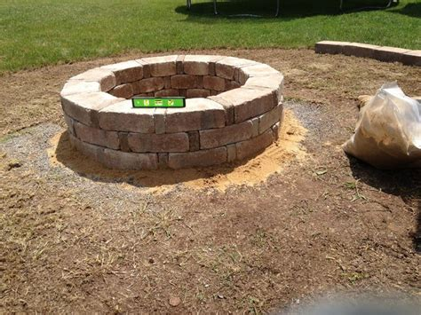 Finished Fire Pit Rumble Stone From Home Depot Home Depot Firepit