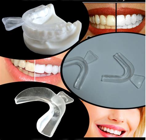 pair teeth whitening mouth trays thermo gum shield tooth