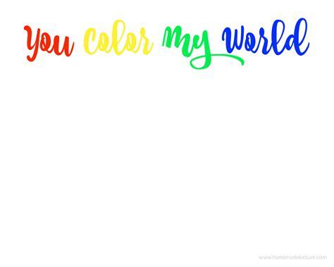 what color is my world you color my world printable ted s