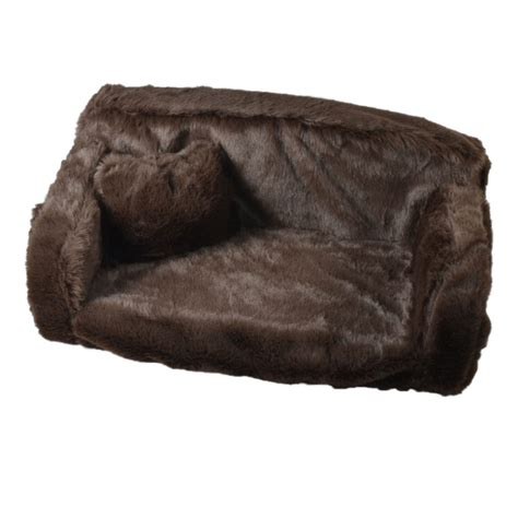 dog settee sofa premium quality dog bed fur sofa plain colour very