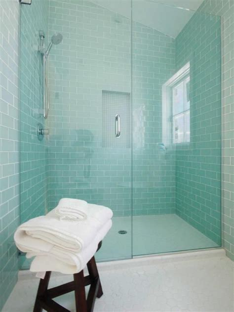 aqua glass tile bathrooms 40 blue glass bathroom tile ideas and pictures