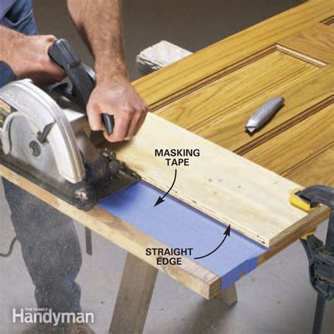how to cut wood door bottoms the family handyman