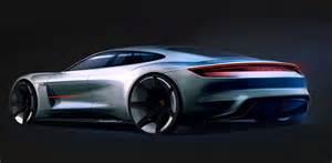 Porsche Future Cars Porsche Mission E Concept Design Sketch Car Design
