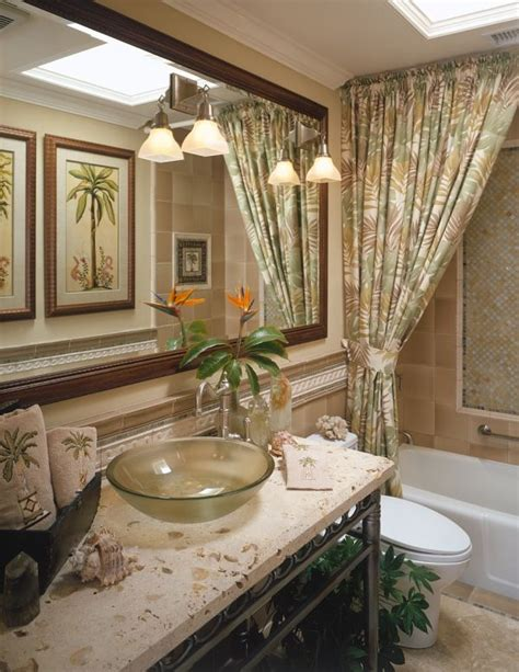 tropical bathroom ideas themed rooms playful flirty tropical rooms