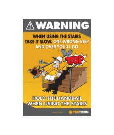 Stair Safety Poster by Stairs Safety Poster